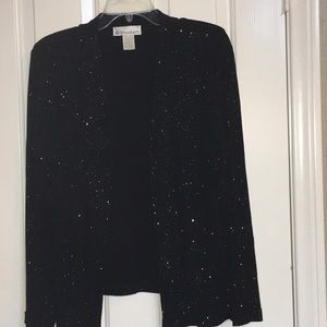 DRESS BARN Size M black sparkling beautiful jacket